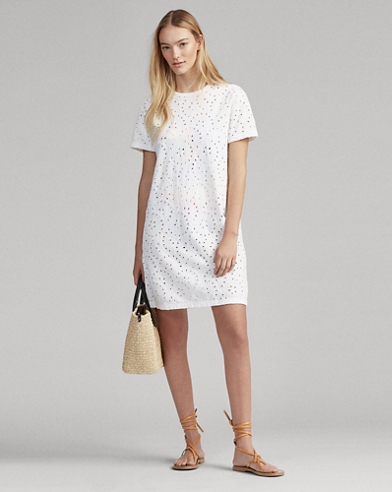 0f187f6b6cb7 Eyelet T-Shirt Dress
