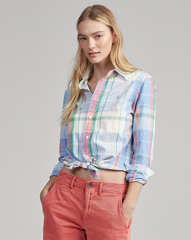 Camicia in madras Classic-Fit