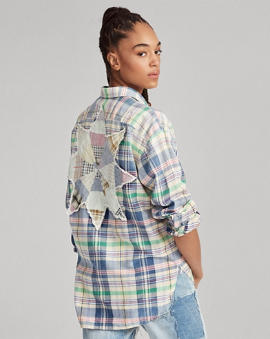 Boyfriend Fit Madras Shirt