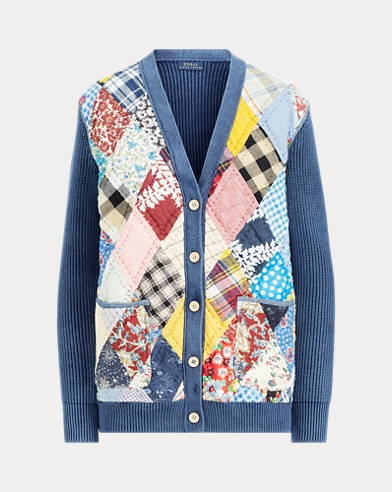 b3256f07a11b Quilted Patchwork Cardigan. Polo Ralph Lauren