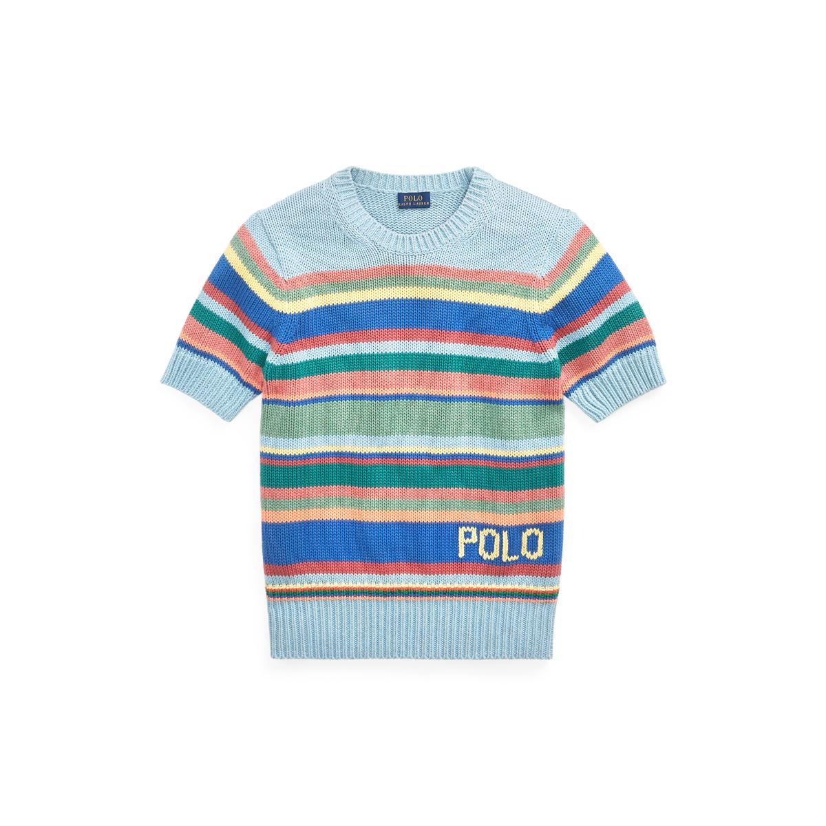 31e920584 Striped Short-Sleeve Sweater