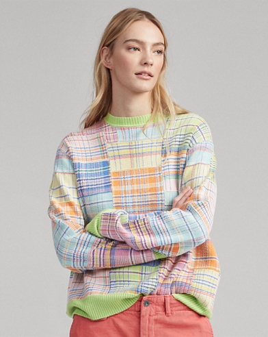 Patchwork Cotton-Blend Sweater