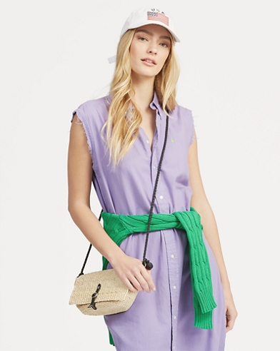 Sleeveless Oxford Shirtdress