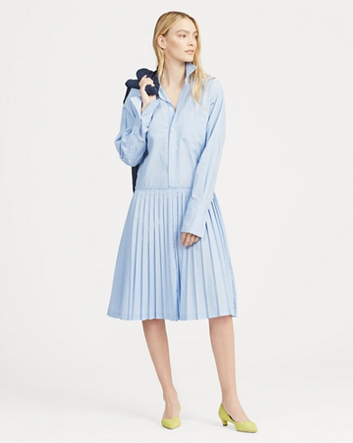 e5df3f3334a Pleated Shirtdress