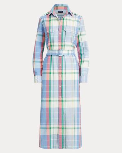e205df53573 Cotton Madras Shirtdress. Take ...