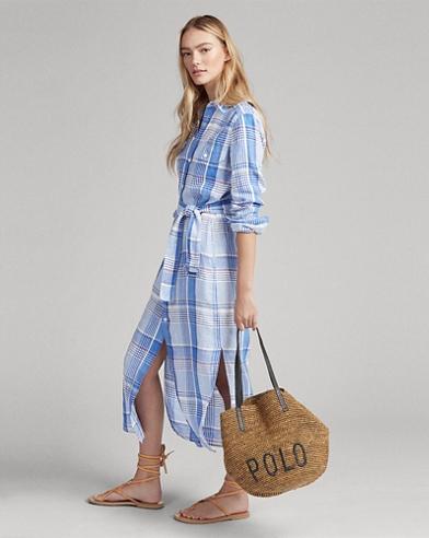 92b5a0ab20cc Plaid Linen Shirtdress