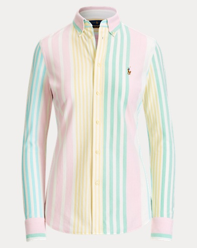 9973f52c527e4 Striped Knit Oxford Shirt. Polo Ralph Lauren