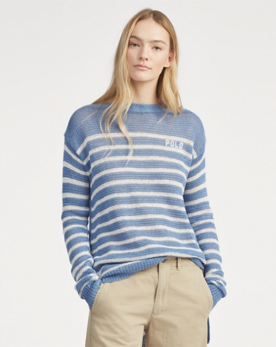 Polo Striped Linen Jumper