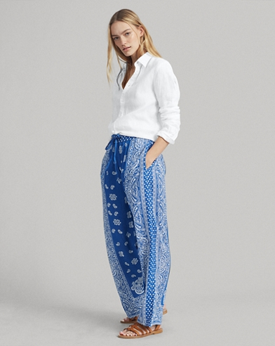 436d76531373d1 Paisley Twill Wide-Leg Pant. Polo Ralph Lauren. Paisley Twill Wide-Leg Pant