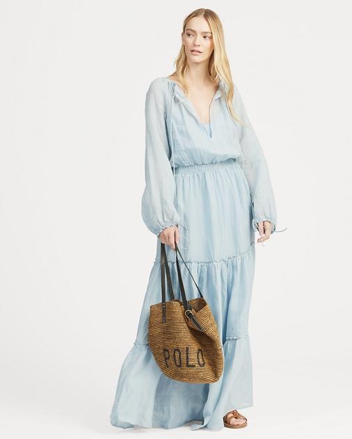 Polo Ralph Lauren Tiered-Skirt Maxidress 1