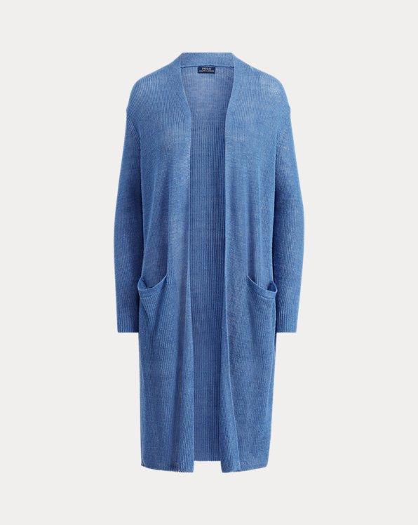 Ribbed Linen Cardigan