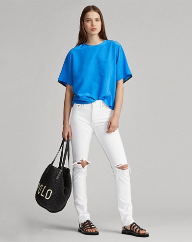 Slim-Jeans Callen mit hoher Taille