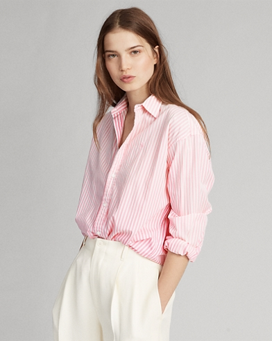 Boyfriend Fit Striped Shirt