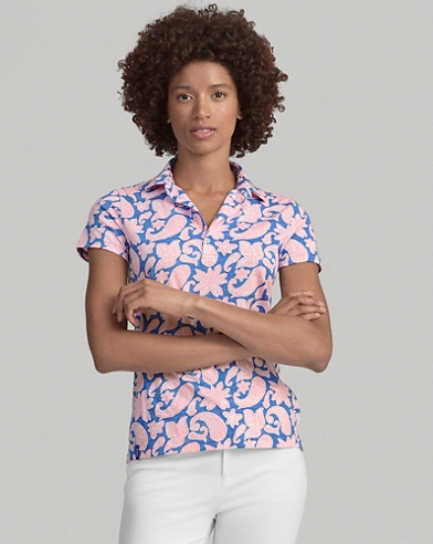 Tailored Fit Print Golf Polo