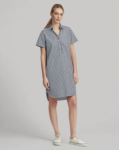 Wimbledon Striped Shirtdress