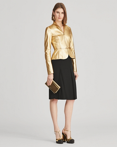 Fahmida Crepe-Back Satin Skirt