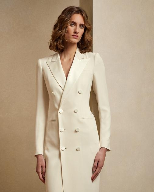 Collection Apparel Kristian Silk Tuxedo Dress 3