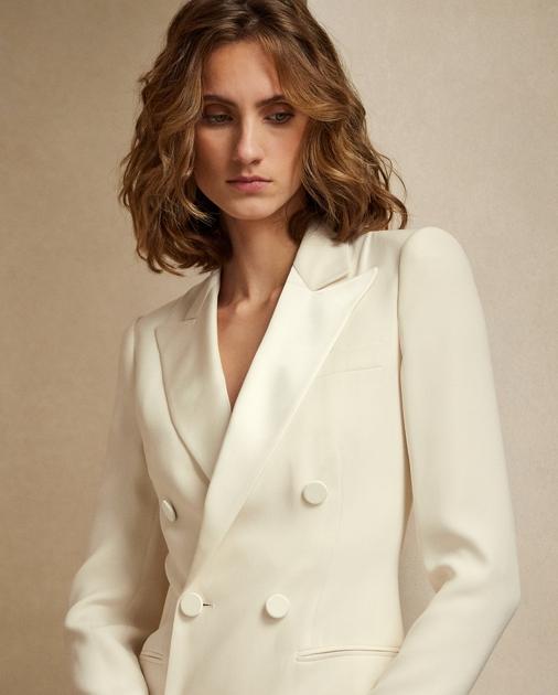 Collection Apparel Kristian Silk Tuxedo Dress 6