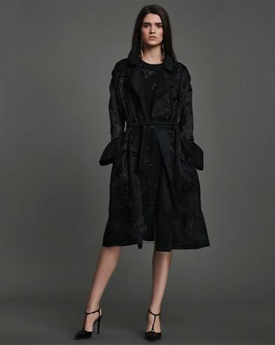 Bennett Embellished Silk Coat