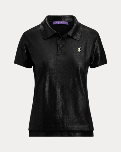 Foil-Print Short-Sleeve Polo