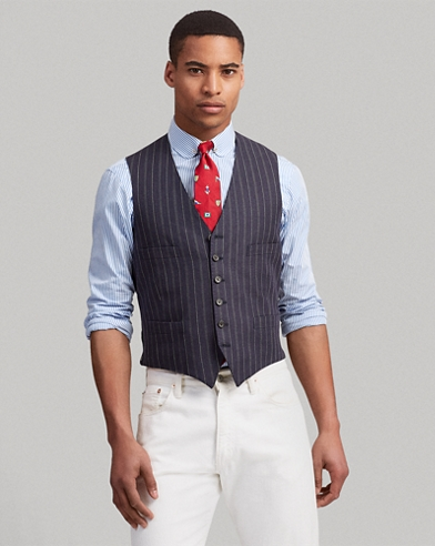 667ad22676d Polo Striped Linen-Wool Vest