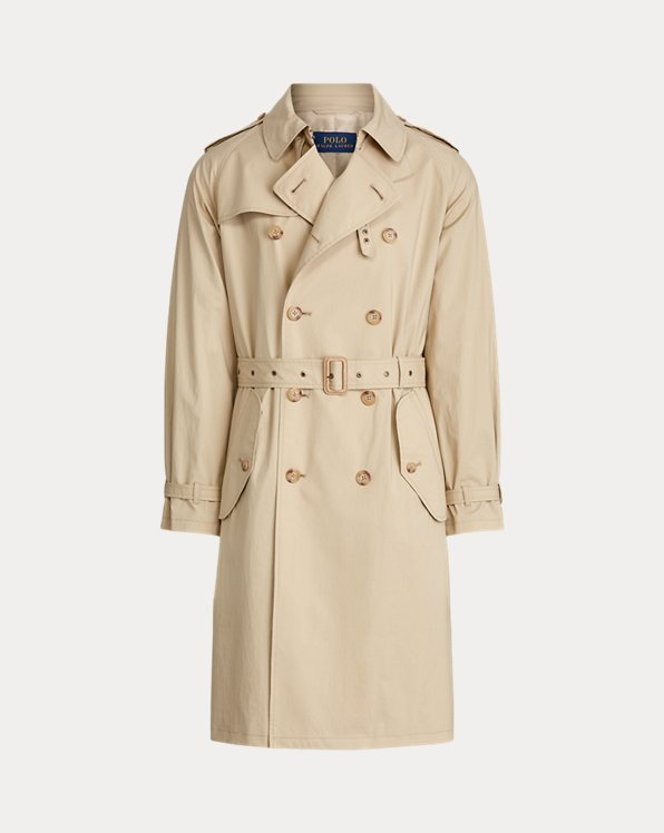 Trench-coat en coton stretch