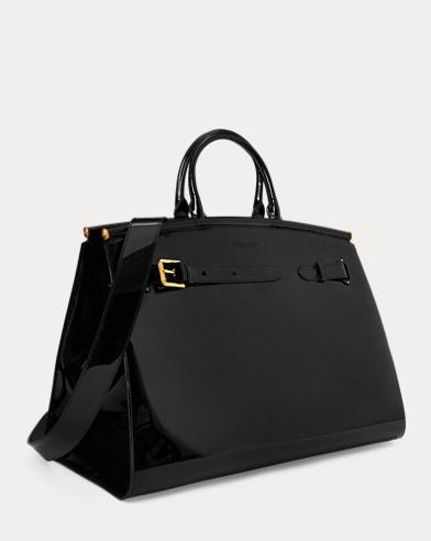 3a92d59f3159 Patent Oversize RL50 Handbag. Ralph Lauren