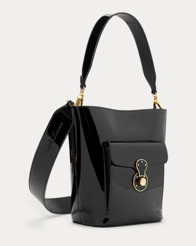 bf46765cc910 Patent Mini Bucket Bag. Ralph Lauren