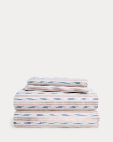 Lucie Ikat Stripe Sheet Set