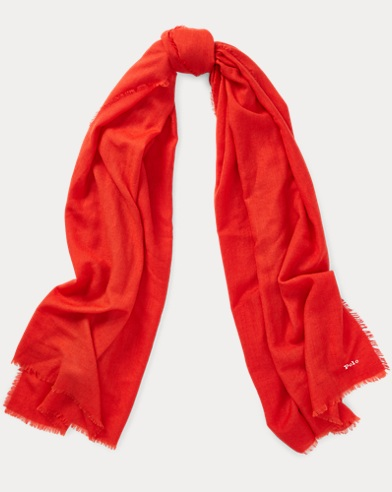 Wool-Cashmere Wrap Scarf