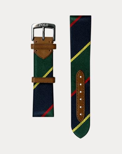 Striped Silk Watch Strap