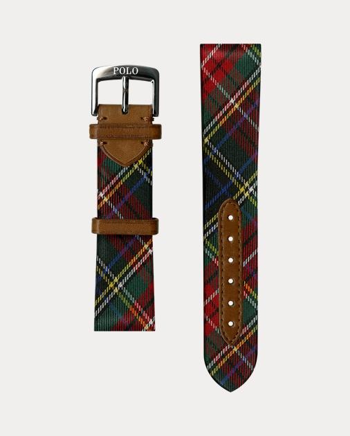aeaf9c3af Polo Ralph Lauren Tartan Silk Watch Strap 1