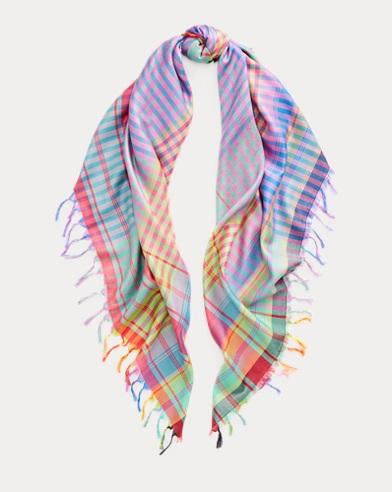 Plaid Silk Scarf