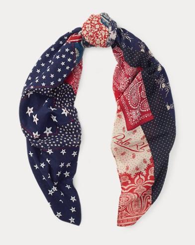 Bufanda estilo bandana de patchwork con bandera
