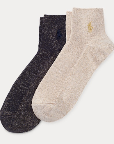 Metallic Anklet Sock 2-Pack
