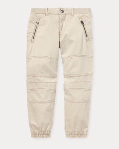 Cotton Twill Moto Jogger