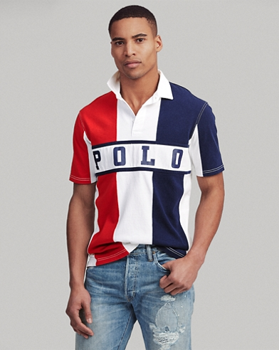 d6e1b94c Classic Fit Cotton Rugby Shirt. Polo Ralph Lauren. Classic Fit Cotton Rugby  Shirt