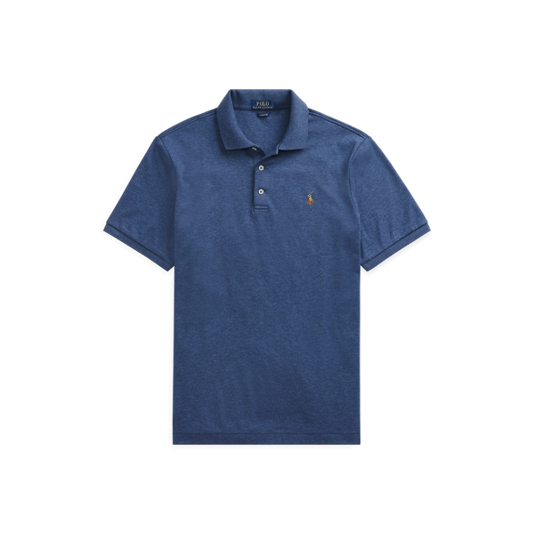 Ralph Lauren Classic Fit Soft Cotton Polo Shirt In Derby Blue Heather