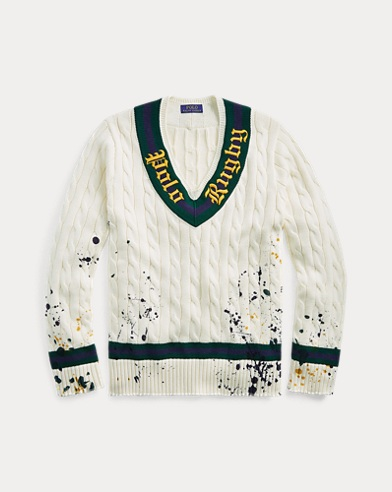Distressed Cricket Sweater