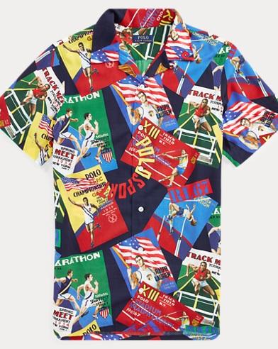 d25c6a864 Custom Fit Graphic Camp Shirt. Polo Ralph Lauren