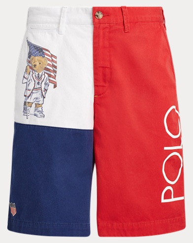 Relaxed Fit Polo Bear Short