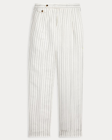 Straight Fit Linen-Blend Pant