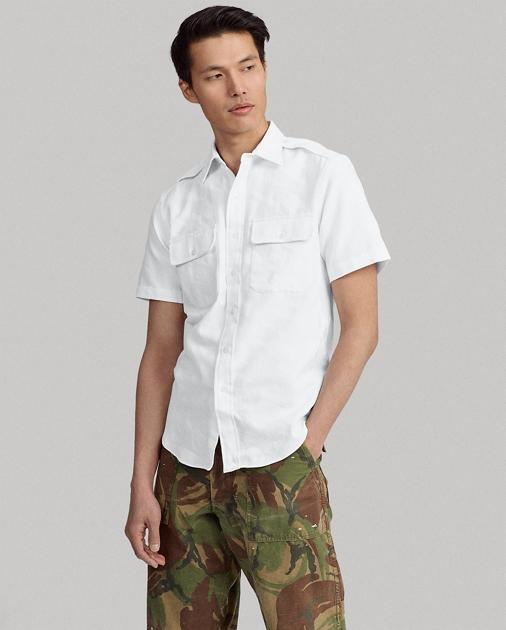 e03eab30 Polo Ralph Lauren Custom Fit White Camo Shirt 1