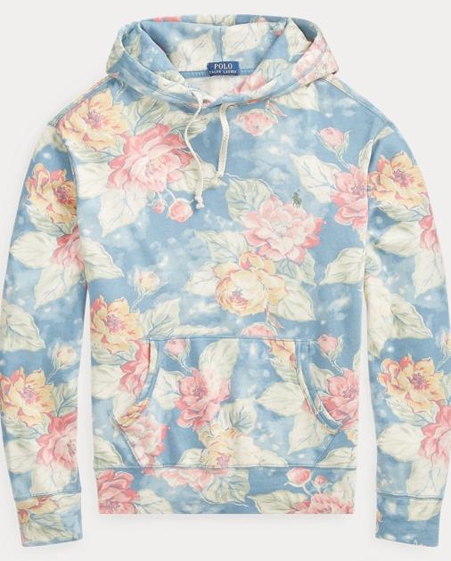 53deeb3fa5 Floral-Print Spa Terry Hoodie