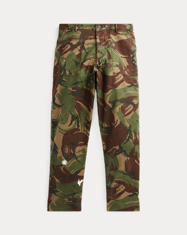 Relaxed Fit Camo Trouser
