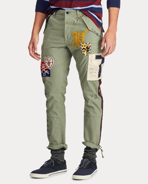 Pantalon large femme Polo Ralph Lauren boutonné sur le côté