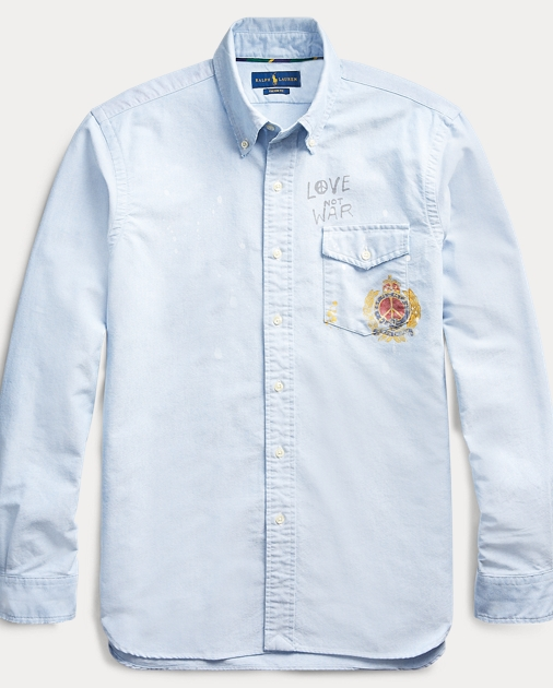 cheap for discount a93db a19c1 Custom Fit Crest-Print Shirt