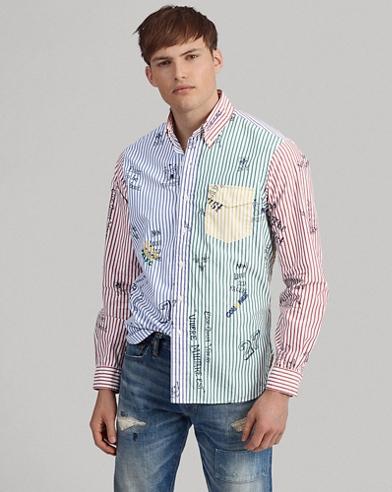 Originelles Custom-Fit Hemd mit Streifen
