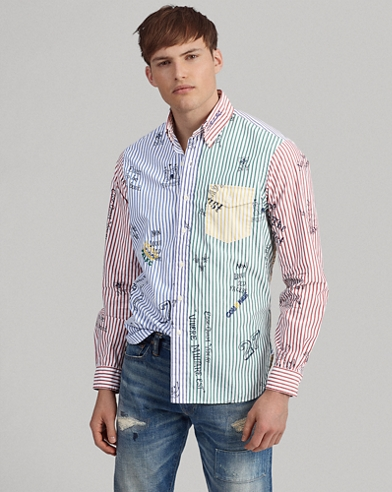 Custom Fit Striped Fun Shirt