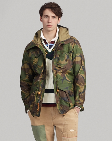 Camo Nylon Oxford Anorak